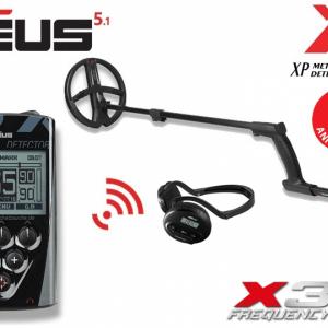 Detector de metale XP Deus v5.1 cu bobina X35 de 22,5 cm, telecomanda si casti WS4